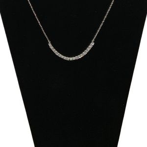 "Lia Sophia 17"" Silvertone Necklace w/Rhinestones"